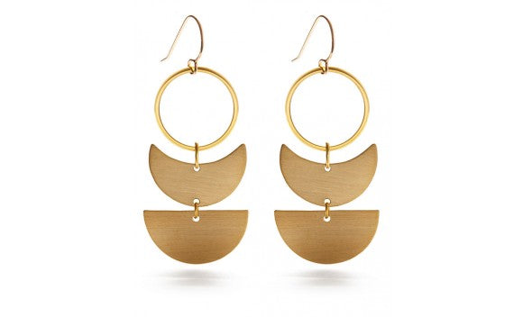 Lunar Geometric Earrings - Best Seller