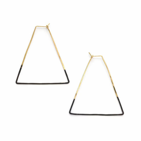 Mired Metal Triangle Earrings