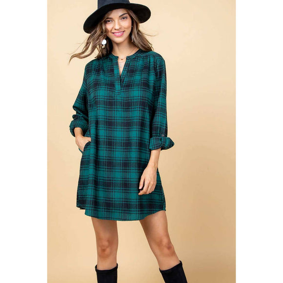 Plaid Print Dress - ON SALE!