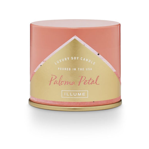 Paloma Petal Tin Candle - New