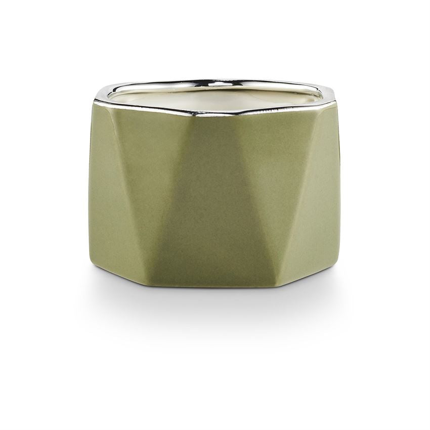 Balsam & Cedar Electroplated Ceramic Candle