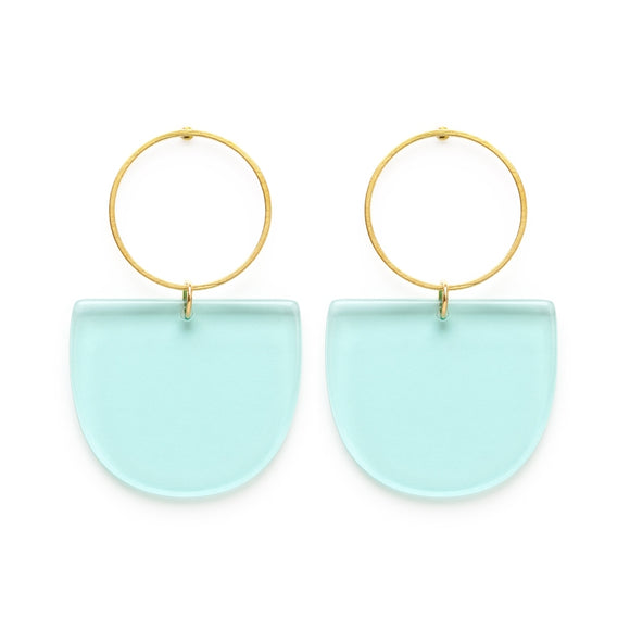 Mod Blue Earrings - New