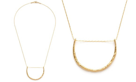 Hammered Crescent Necklace - Best Seller