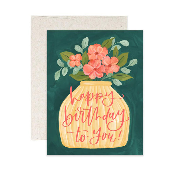 Birthday Flower Vase Card