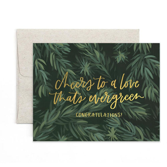 Evergreen Wedding Card