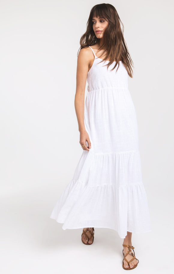 Bridget Solid White Dress