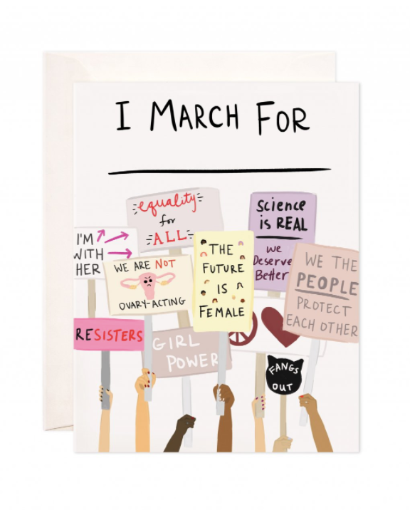 Women's March Art Print At Fleurt Collective, West Seattle Gift Shop