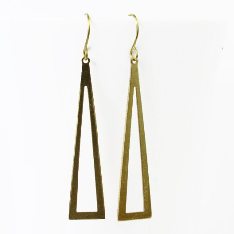 Triangle Window Dangle Earrings