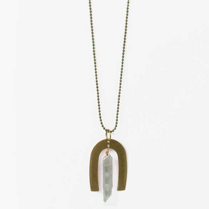Opalescent Arches Crystal Necklace