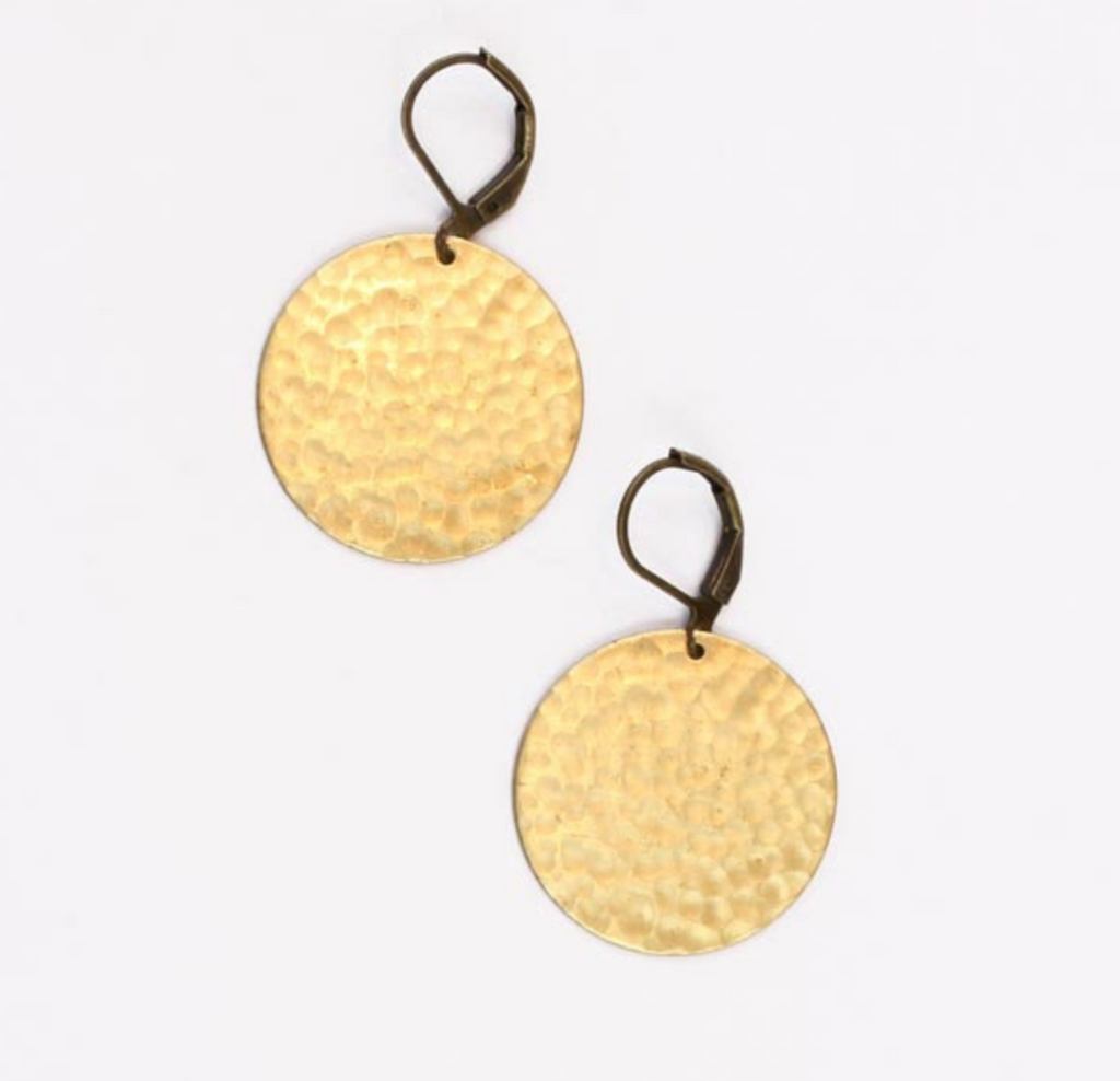 Hammered Moon Earrings - SOLD OUT