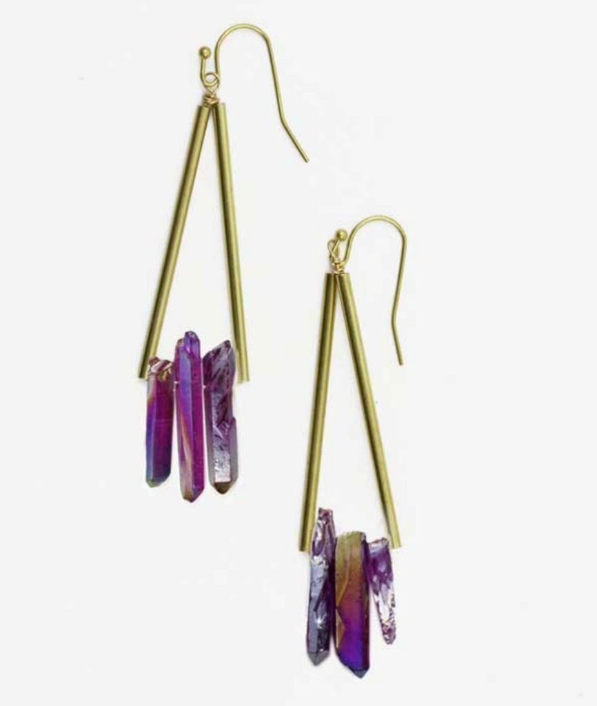 Opalescent Triad Orchid Earrings - SOLD OUT
