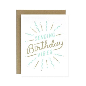 Sending Birthday Vibes Card