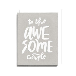 Awesome Couple Wedding Greeting Card