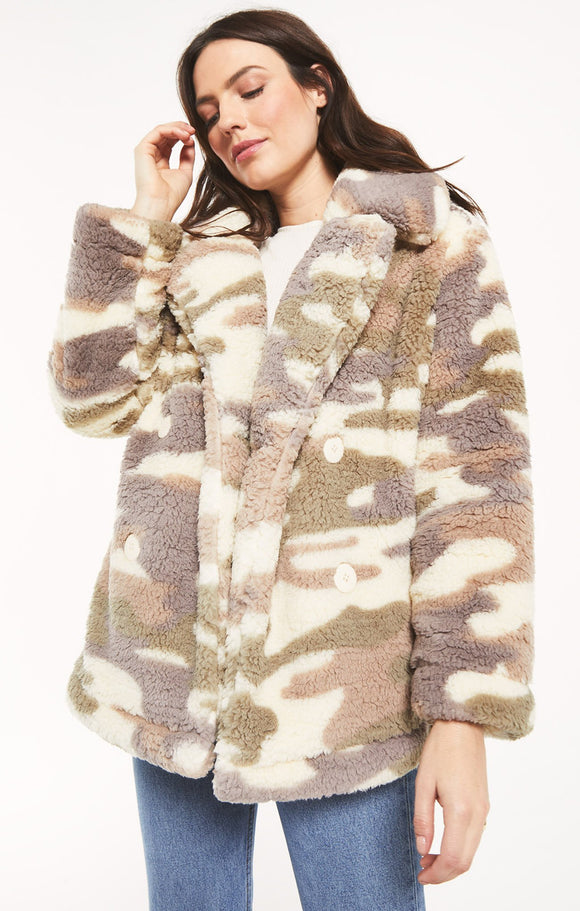 Sherpa Camo Coat - ON SALE!