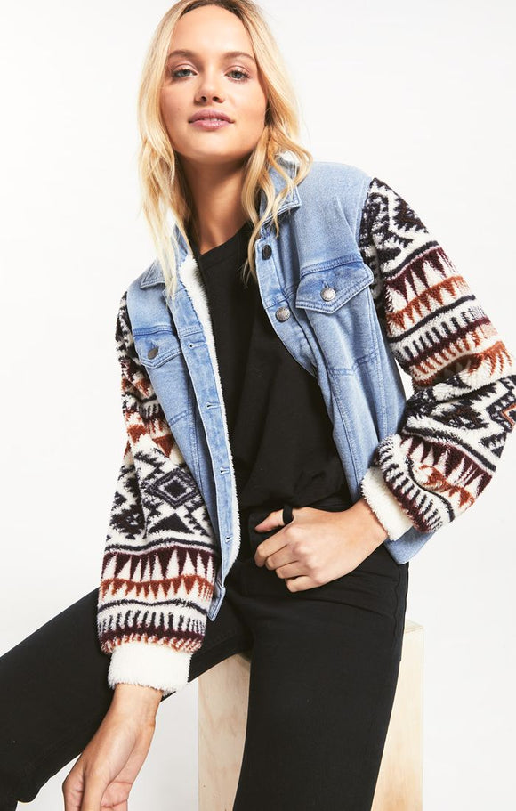 Maya Knit Denim Jacket
