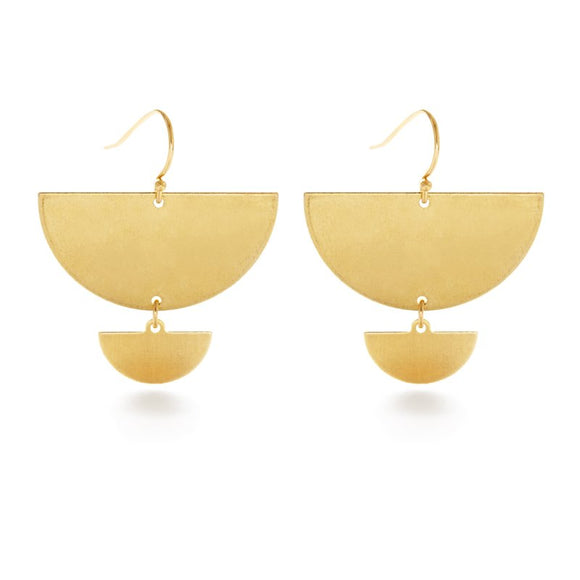 Double Semicircle Earrings