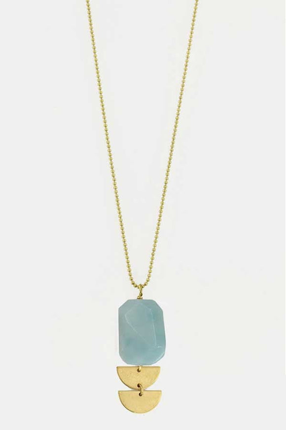 Amazonite Semi Stack Necklace - New