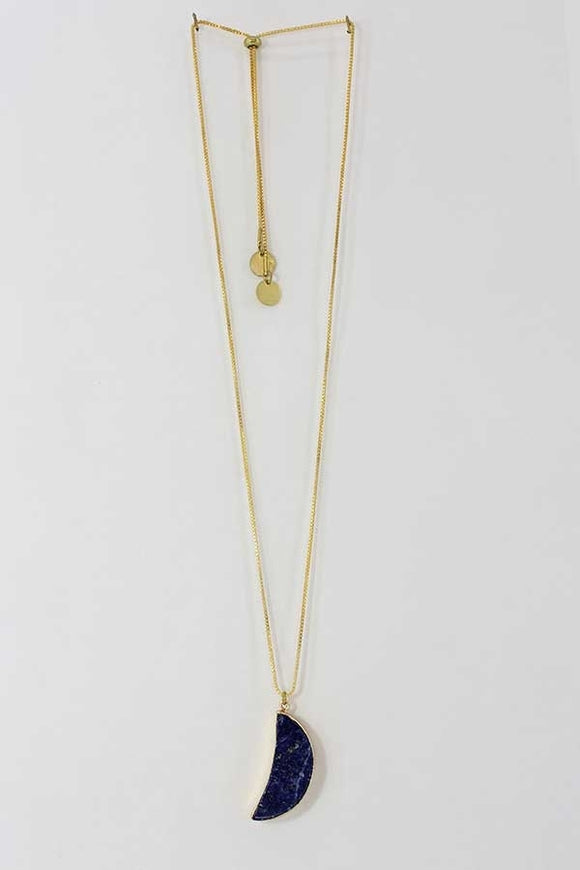 Blue Moon Lapis Necklace - New