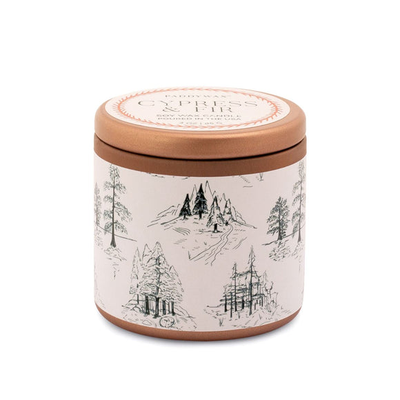 Cypress + Fir Mini Tin Candle - New