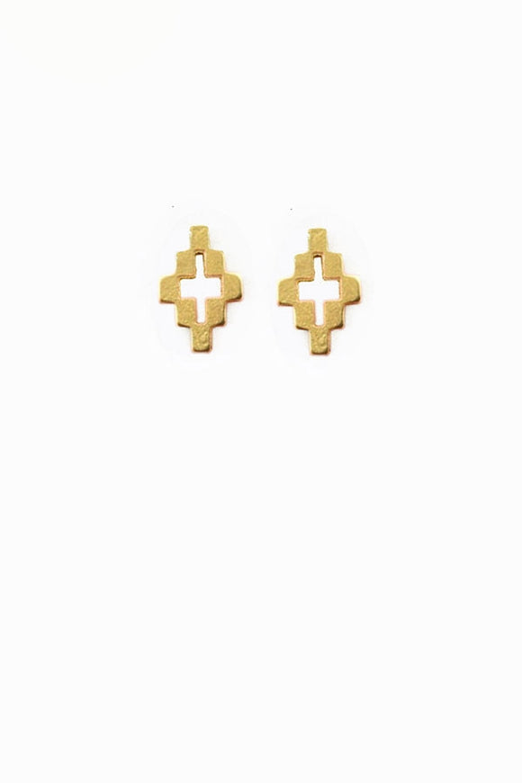 Checkerboard Diamond Earrings - New