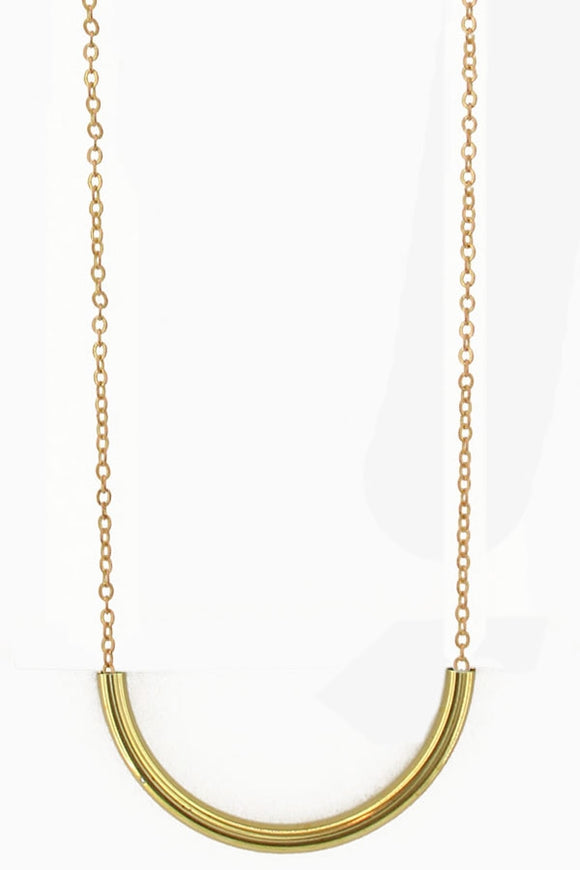 Curbed Tube Necklace