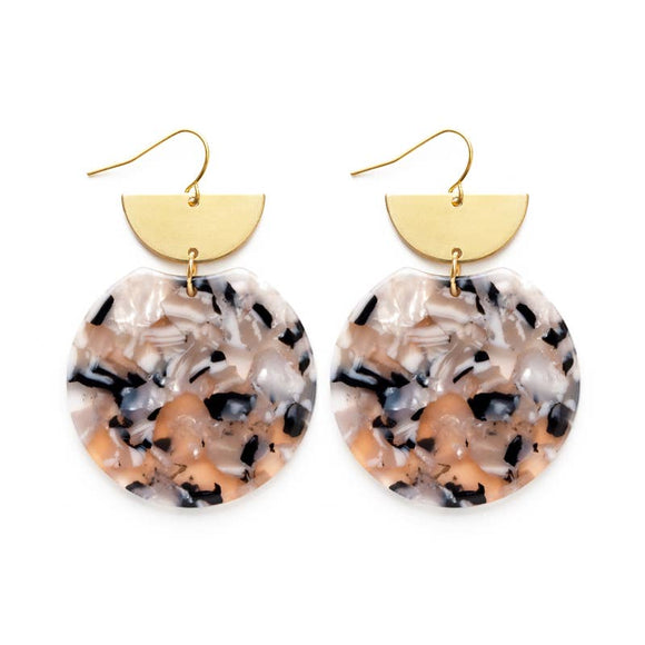 Pollock Earrings - Blush