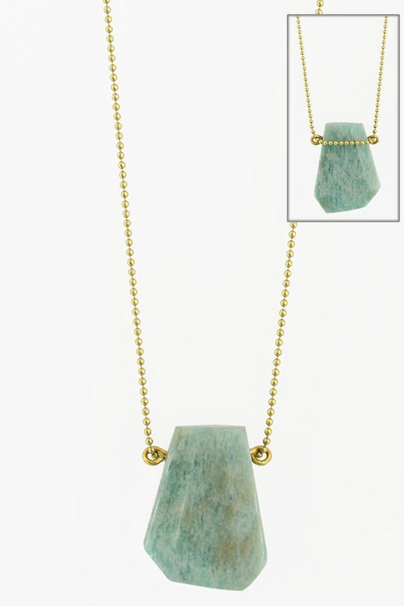 Faceted Amazonite Necklace - Best Seller
