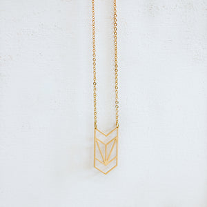 Geometric Chevron Necklace