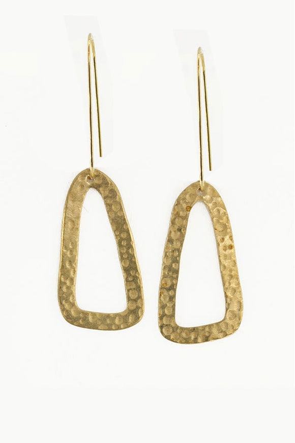 Hammered Triangle Earrings