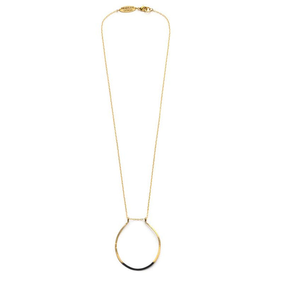 Mired Metal Circle Necklace - Best Seller