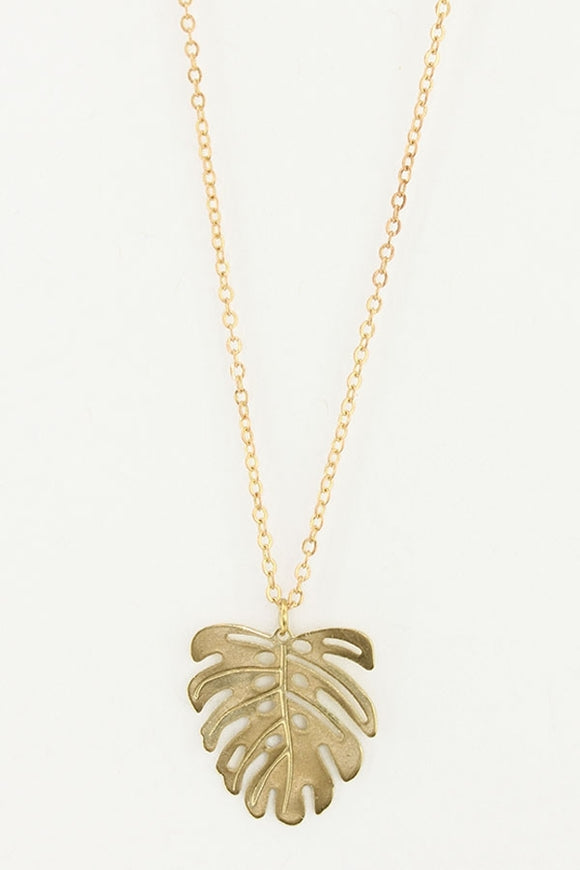 Little Monstera Pendant Necklace