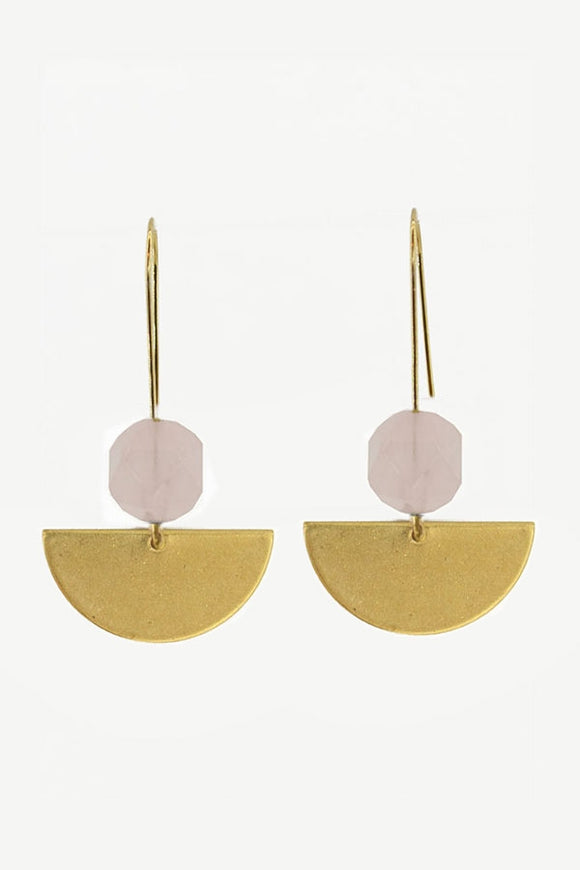 Phases Rose Quartz Earrings
