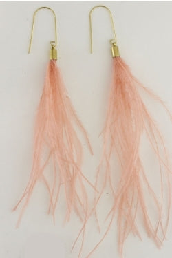 Blush Plume Earrings