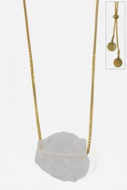 Quartz Nugget Slide Necklace - New