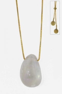 Quartz Pebble Slide Necklace - New