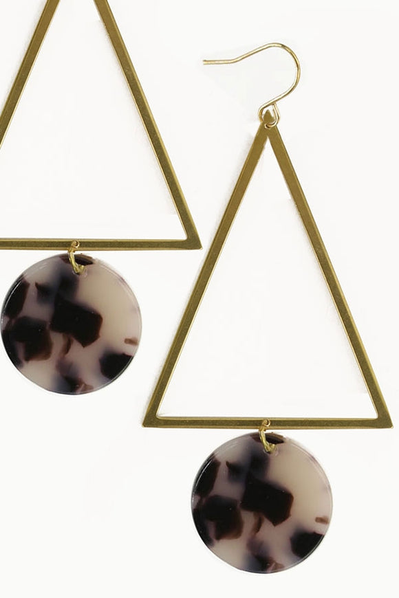 Triangle Dot Earrings
