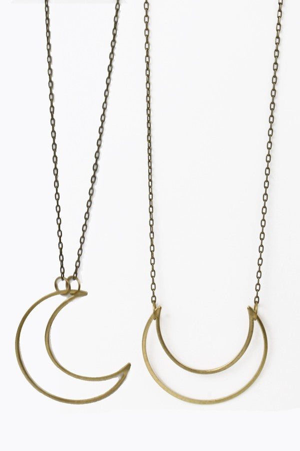 Crescent Two Way Necklace
