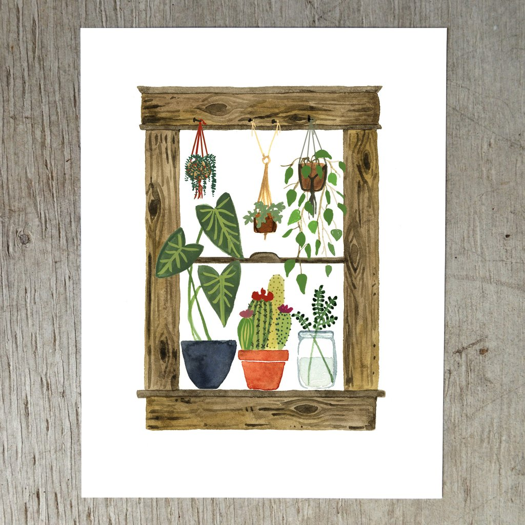 Plants Art Print at Fleurt Collective, West Seattle Gift Shop