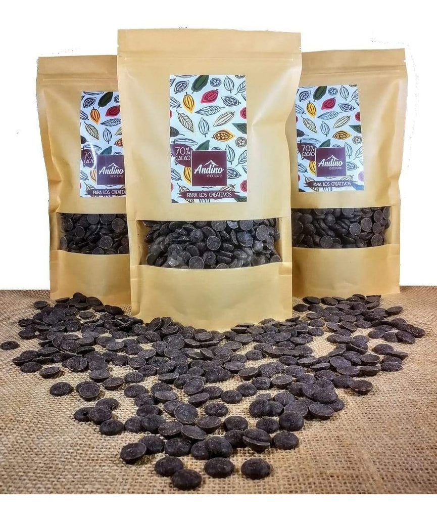 Chips 70% cacao 250 gr – ANDINO