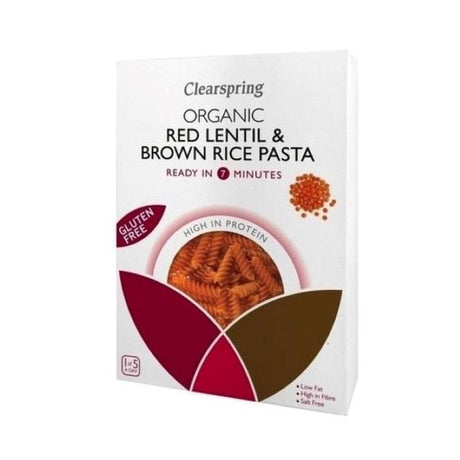 Red Lentil Fusilli Pasta Organic - Brown Rice 250g