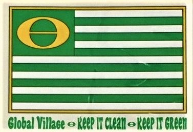 Global Village Sticker Ecology Flag
