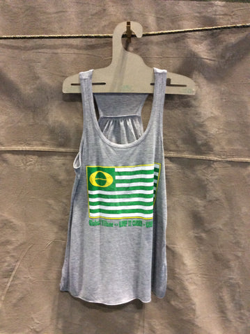 Global Village Ecology Flag Racer Back Tank Top