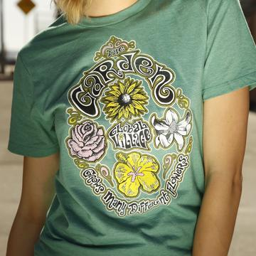 Global Village Wear - Garden Grows Many Flowers -  Short Sleeve Tee