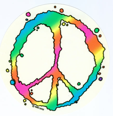 Peace Bubble Sticker 7""