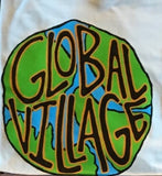 Global Village Wear Globe 100% Cotton Pocket Tee Back Print