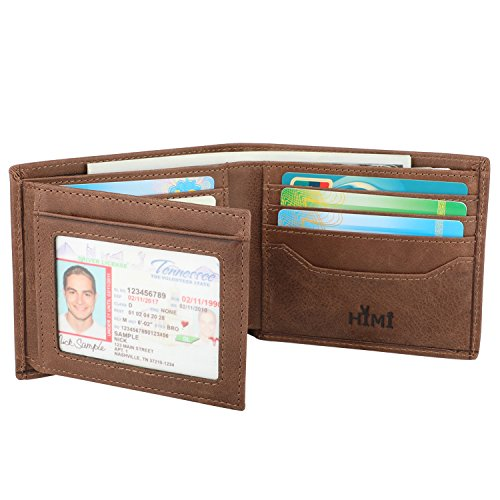 1463556f0124 ... Nice Wallets for Men - RFID Blocking Trifold Genuine Leather Wallet  With 2 ID Window ...