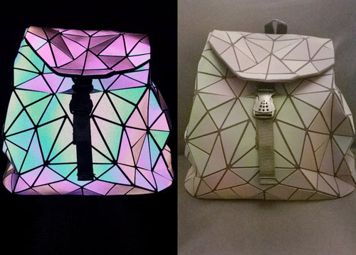 Geometric backpack (large pattern)