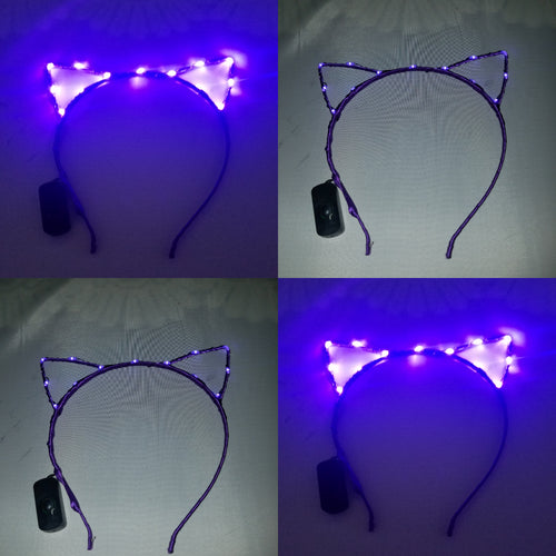 Purple wired cat ears