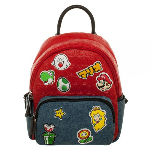 Leather Mario Brothers Backpack