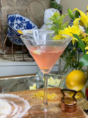 Cocktail Hour-Pink Lemonade Lemon Drop Martini